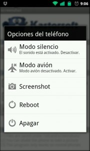 Acceso directo a screenshot en app Screenshots para android.