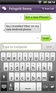 También puedes mandar mensajes de texto con Viber.