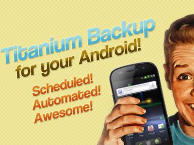 Titanium Backup app para android para hacer copias de seguridad.