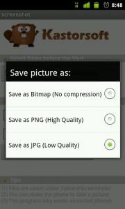 Programando capturas de pantalla con la app Screenshot.