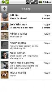 App de mensajería multiplataforma. Envía mensajes entre Android, iPhone y Blackberry.