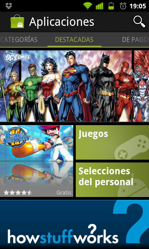 Nueva version del Android Market