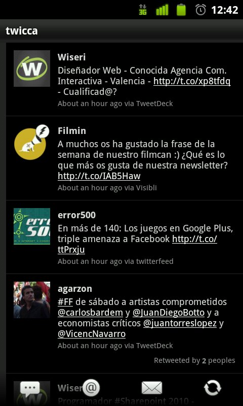 App Twitter para Android.