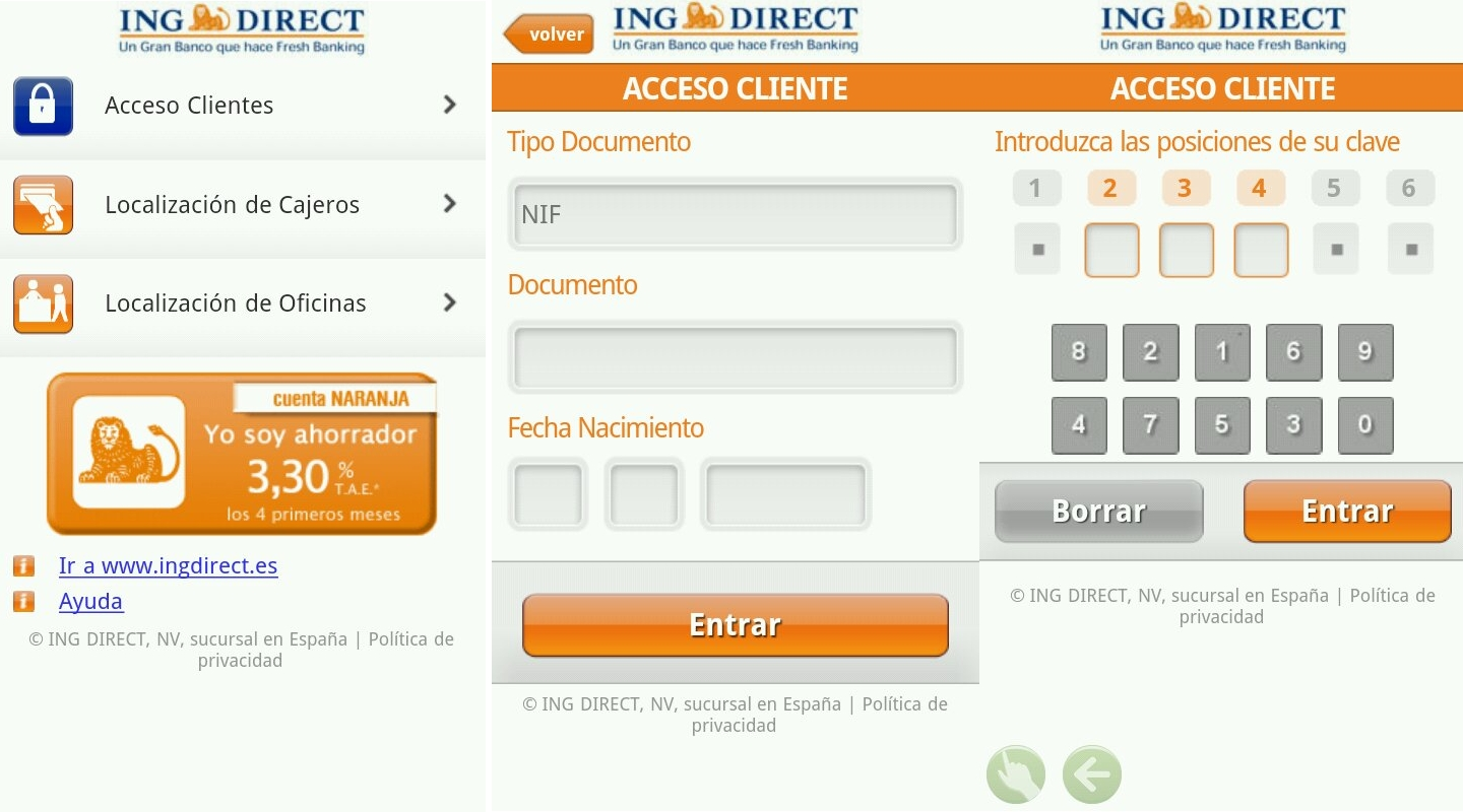 Aplicacion android para Ing Direct