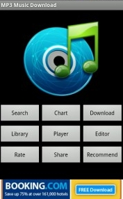 Pantalla inicial de Music Download Pro