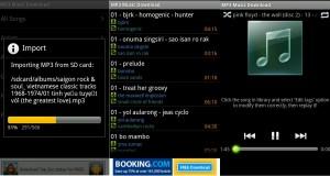 Funciones de reproductor de música en Android