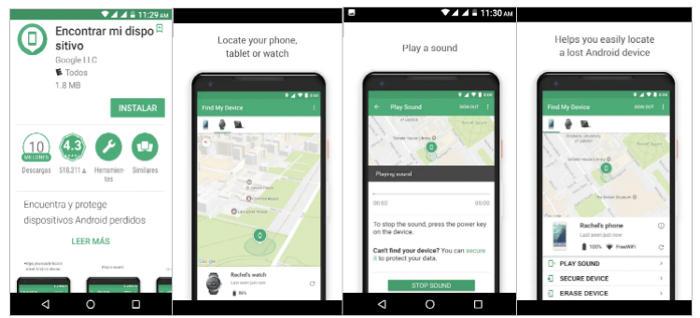Pasos para rastrear celular con Google