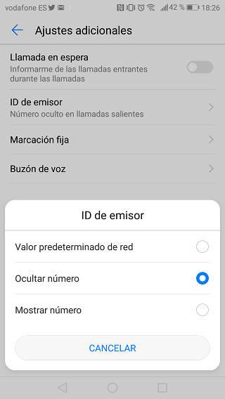 Ocultar llamada en iPhone mediante configuración